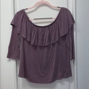 American Eagle Purple Off The Shoulder Top